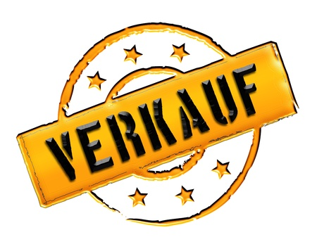 freigestellt: VERKAUF - Sign, Stamp in retro style for presentations, web, flyers,