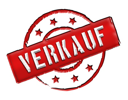 stempel: VERKAUF - Sign, Stamp in retro style for presentations, web, flyers,