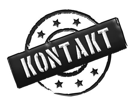 zeichen: KONTAKT - Zeichen, Symbol im Retro Stil fuer Praesentationen, Prospekte, Internet,