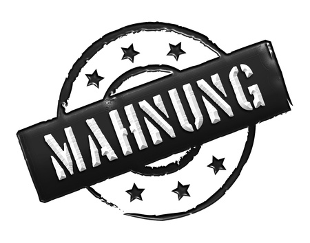 zeichen: MAHNUNG - Zeichen, Symbol im Retro Stil fuer Praesentationen, Prospekte, Internet, ...