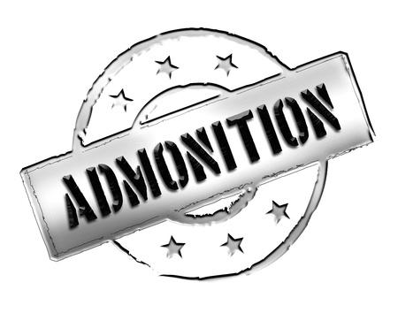 gelb: admonition - Zeichen, Symbol im Retro Stil fuer Praesentationen, Prospekte, Internet, ... Stock Photo