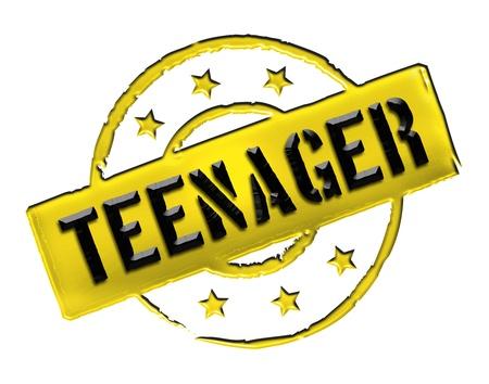 freigestellt: Teenager - sign or symbol for presentations, flyer,
