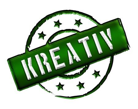 Kreativ - Zeichen, Symbol im Retro Stil fuer Praesentationen, Prospekte, Internet,     Stock Photo