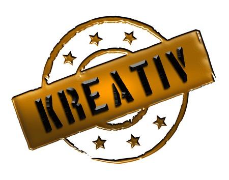 zeichen: Kreativ - Zeichen, Symbol im Retro Stil fuer Praesentationen, Prospekte, Internet,     Stock Photo