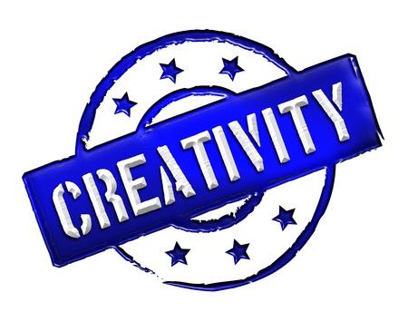 kreativ: creativity - sign or symbol for presentations, web, flyers,