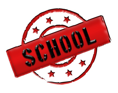 stempel: school - sign or symbol for presentations, web, flyers,    Stock Photo