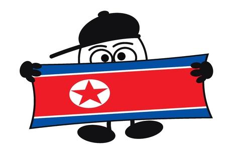 egghead: Egghead personaggio dei cartoni animati con gli occhi grandi con un cartello con spazio per il testo, per la pubblicit�