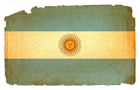 Cool, grungy flag of Argentina to use for presentations and web photo