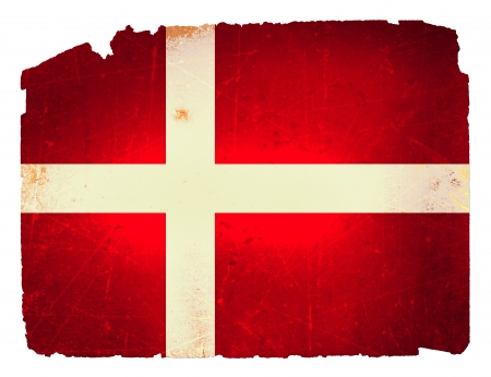 danmark: Cool, grungy flag of Denmark to use for presentations and web