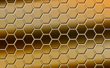 farbe: Colored hexagons as symbolization of emotions, which could be used for presentations, as wallpaper, background or even as art for your home