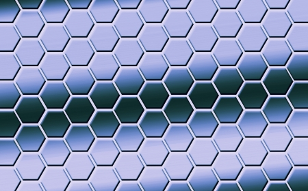 aquamarin: Colored hexagons as symbolization of emotions, which could be used for presentations, as wallpaper, background or even as art for your home