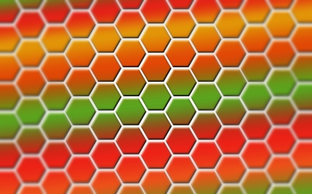 symbolization: Colored hexagons as symbolization of emotions, which could be used for presentations, as wallpaper, background or even as art for your home