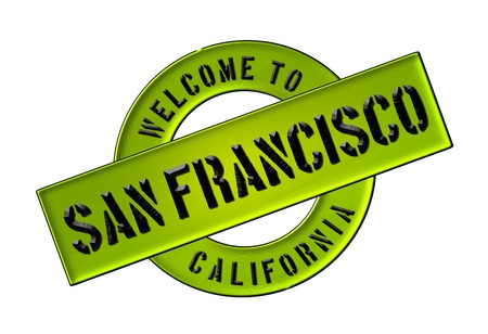 Reisen: Illustration of WELCOME TO SAN FRANCISCO as Banner for your presentation, website, inviting    Stock Photo