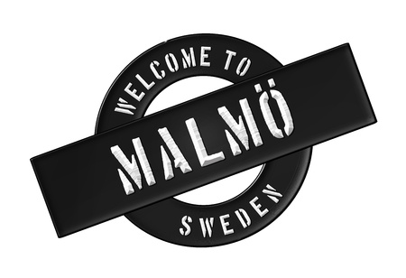 Reisen: Illustration of WELCOME TO MALM� as Banner for your presentation, website, inviting    Stock Photo