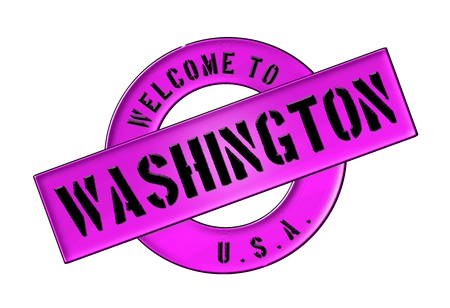 Reisen: Illustration of WELCOME TO Washington as Banner for your presentation, website, inviting
