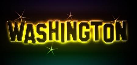 als: Washington als Illustration im Neon Licht Style
