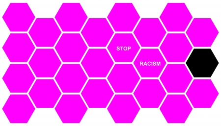 Stop Racism as symbolisation for presentations photo