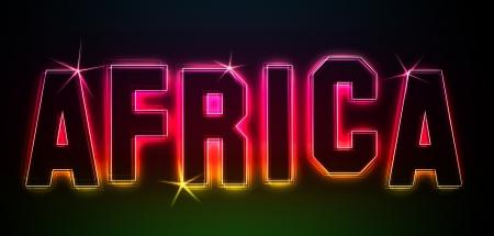 Afrika als Illustration in Neonlicht Stil