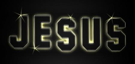 christus: Jesus as an illustration in neon light style