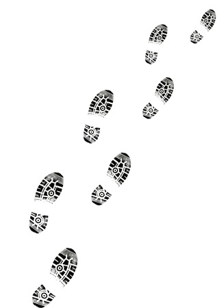 Illustration of Footsteps in one direction to use for presentations and more