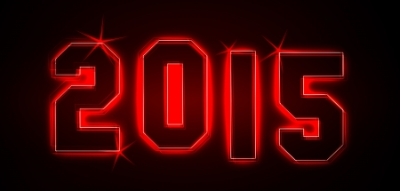2015 als Illustration in Neonlicht Stil