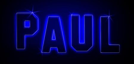 Paul als Illustration in Neonlicht Stil