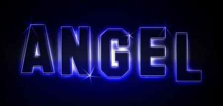Engel als Illustration in Neonlicht Stil