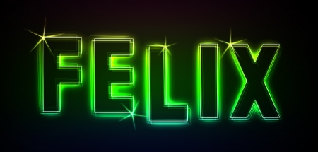 felix: Felix as an illustration in neon light style