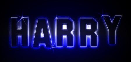 Harry als Illustration in Neonlicht Stil