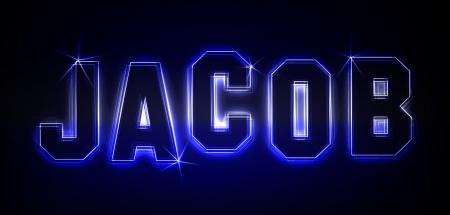 Jacob als Illustration in Neonlicht Stil