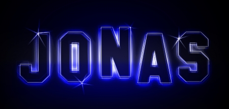 Jonas als Illustration in Neonlicht Stil