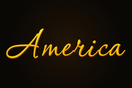 edel: America as a kind of golden illustration to use for web and presentations Stock Photo