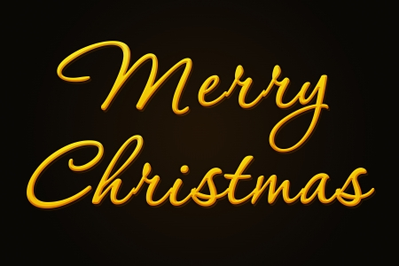 glanz: A golden Merry Christmas as a kind of golden illustration to use for web and presentations