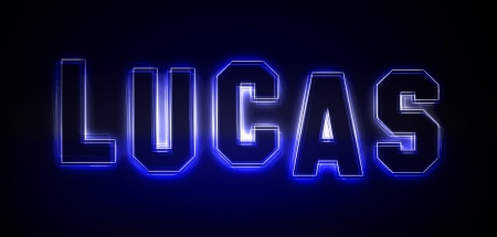 Lucas als Illustration in Neonlicht Stil