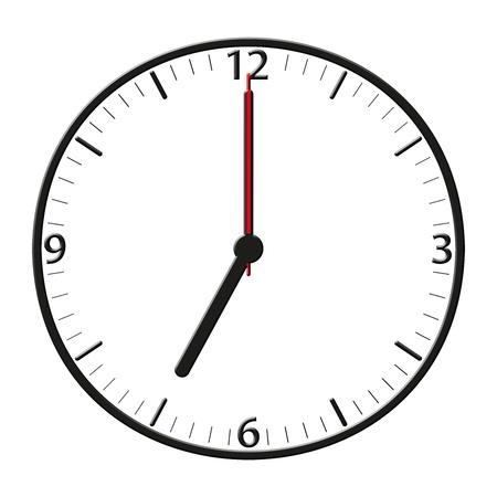 Een klassieke stationsklok te gebruiken voor presentaties - Klassische Bahnhofsuhr mit bestimmter Uhrzeit Stockfoto