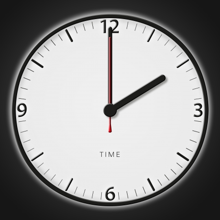 A classic station clock to use for presentations photo