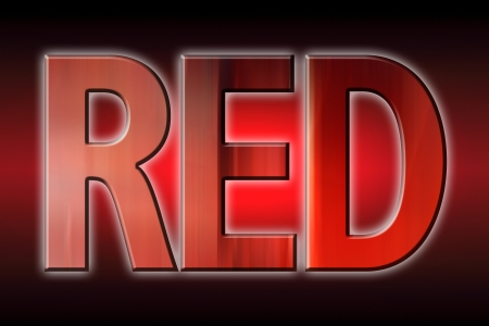 mystique: Red written in red letters on mystique background Stock Photo