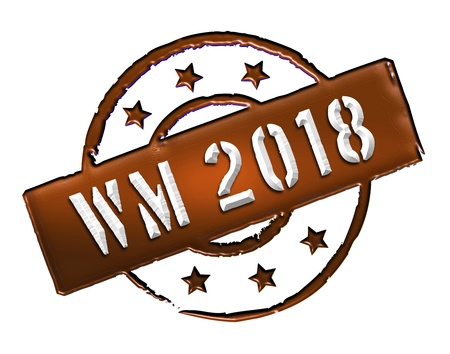 Sign, symbol, stamp or icon for your presentation, for websites and many more named WM 2018 photo