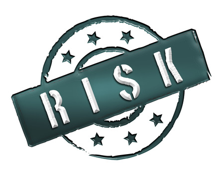 Sign and stamp named RISK colored black  photo