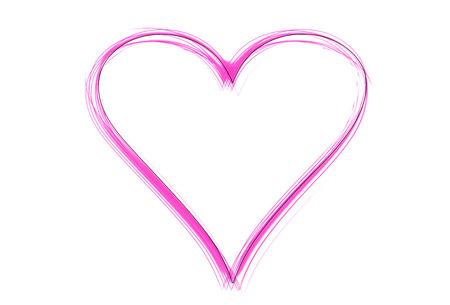 Eine violette Herz als Illustration in Skizziert Zeichnung Stil