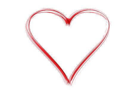 Ein gelbes Herz als Illustration in skizzierten Zeichenstil