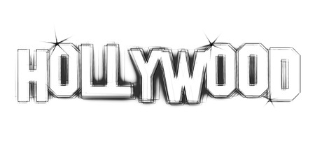 Hollywood Illustration as LED Lights for your Presentation or website Stockfoto