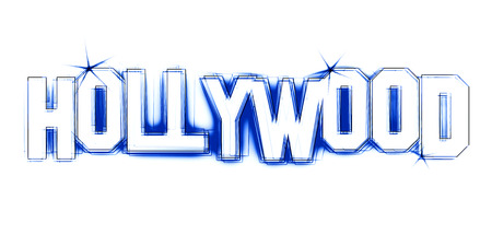 Hollywood Illustration as LED Lights for your Presentation or website Stock Photo