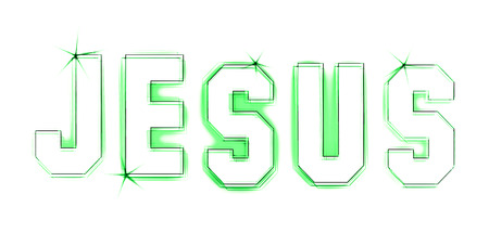 christus: Jesus as an illustration in sketched drawing style
