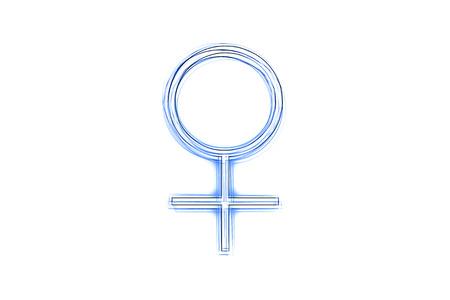 f�minit�: symbole de la f�minit� comme une illustration dans le style de dessin esquiss� Banque d'images
