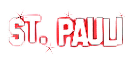 reeperbahn: St  Pauli as an illustration in sketched drawing style