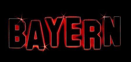 bayern: Bayern as an illustration in neon light style