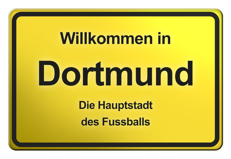 city limit: Yellow City limit sign from Germany