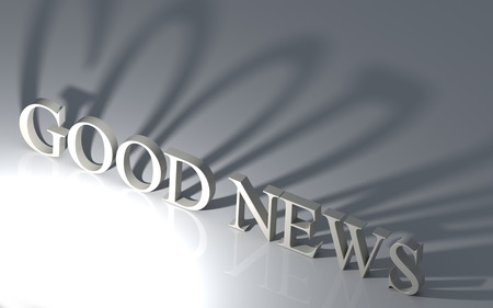 good news: 3d illustration on white background symbol of the Good News. Stock Photo