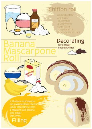 Banana Mascarpone Roll